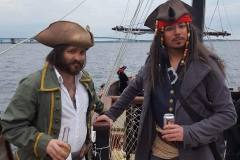 Good-Fortune-pirates-in-front-of-the-Mackinac-Bridge