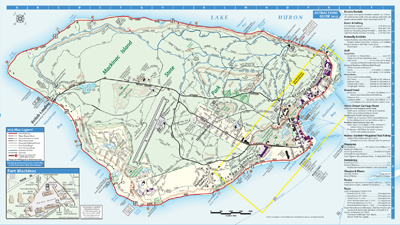 Map Of Mackinac Island - Courtesy of Mackinac Island Tourism Bureau